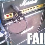 Amp mic FAIL